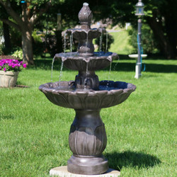 Classic Tulip 3 Tiered Outdoor Water Fountain