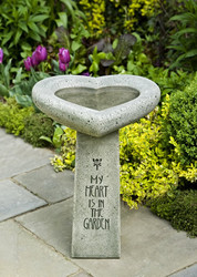 My Heart is in the Garden Birdbath by Campania International