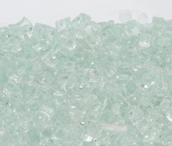 """1/4"""" Icy Mint Fire Glass"""