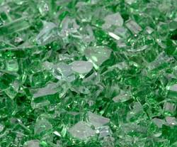 """1/4"""" Rainforest Green Fire Glass"""