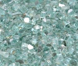 """1/4"""" Emerald Green Metallic Fire Glass"""