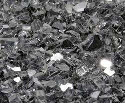 "1/4"" Gunmetal Gray Metallic Fire Glass"
