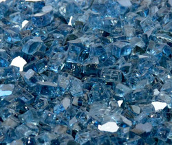 "1/4"" Blue Lagoon Metallic Fire Glass"