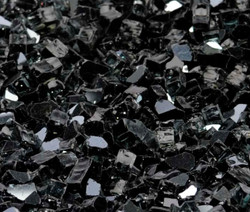 "1/4"" Onyx Black Metallic Fire Glass"