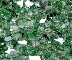 """1/4"""" Rainforest Green Metallic Fire Glass"""