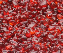 "1/4"" Scarlet Red Fire Beads"