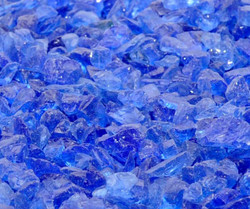 Deep Blue Sea Recycled Fire Glass