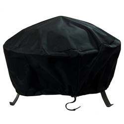 Sunnydaze Round Black Fire Pit Cover, Size Options Available