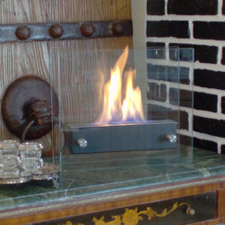 Nu-Flame Irradia Noir Tabletop Ethanol Fireplace