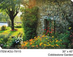 Cobblestone Garden Canvas Wall Art