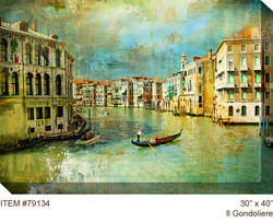 II Gondoliere Canvas Wall Art