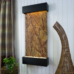 Brown Marble w/ Black Frame