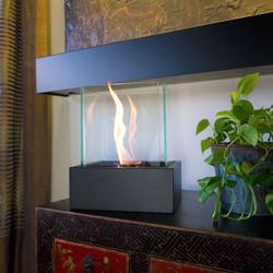 Delightful Lampada Tabletop Decorative Ethanol Indoor Outdoor Fireplace