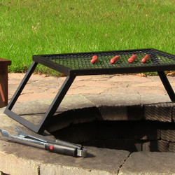 Sunnydaze Portable Heavy Duty Campfire Cooking Grill, 24 Inch Long