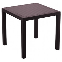 Orlando Resin Wickerlook Square Dining Table