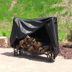Sunnydaze Heavy Duty Firewood Log Rack Cover, 4-Foot