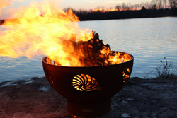 Beachcomber Fire Pit by Fire Pit Art
