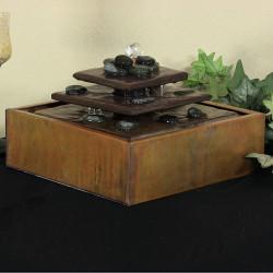 Sunnydaze Cascading Pyramid Copper Tabletop Fountain