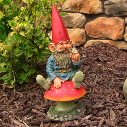Adam with Butterfly Gnome, 14 Inch Tall by Sunnydaze Decor