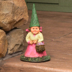 Isabella the Lady, 8 Inch Tall Gnome by Sunnydaze Decor