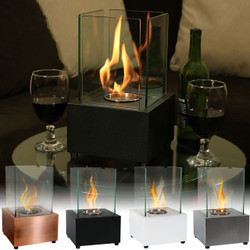 Sunnydaze Cubic Ventless Bio Ethanol Tabletop Fireplace