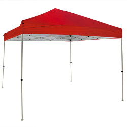 Sunnydaze Quick-Up Canopy 10 Foot x 10 Foot Straight Leg Canopy with Carrying Bag