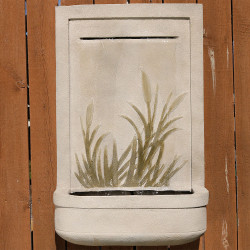 Sunnydaze 24 Inch Modern Cattail Solar Outdoor Wall Fountain