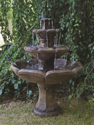 Henri Studio Cast Stone Montreux Three-Tier Water Fountain
