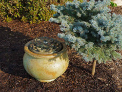 Henri Studio Cast Stone Dahlia Patio Bubbler Fountain