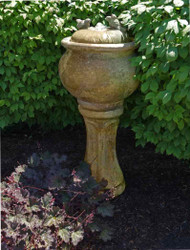 Henri Studio Cast Stone Tall Birds Patio Bubbler Fountain