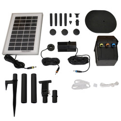 Solar Pump and Solar Panel Kit with Battery Pack and LED Light