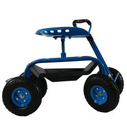blue side view - Garden Cart With Seat