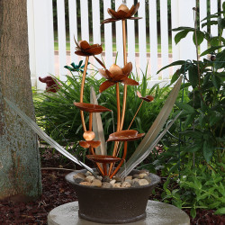 Copper Flower Blossom Fountain