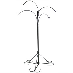 Sunnydaze 4-Arm Hanging Basket Stand with Adjustable Arms, 84 Inch Tall