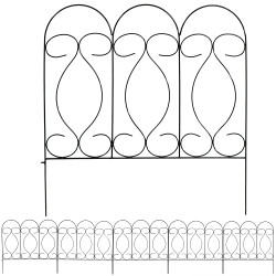 Sunnydaze 5 Piece Traditional Border Fence Set 10 Overall Feet