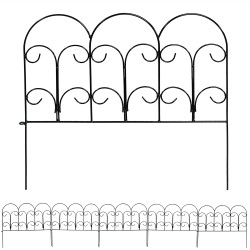 Sunnydaze 5 Piece Victorian Border Fence Set, 7.5 Overall Feet