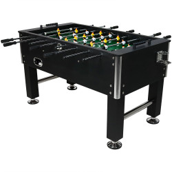 Sunnydaze 55 Inch Foosball Game Table with Drink Holders