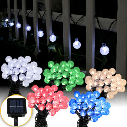 Sunnydaze 30-Count LED Solar Powered Globe String Lights