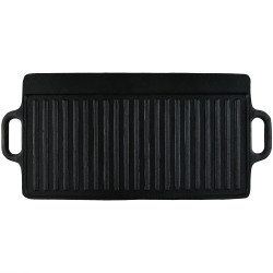 Sunnydaze Cast Iron Reversible Grill/Griddle, Pre-Seasoned, 20-Inch