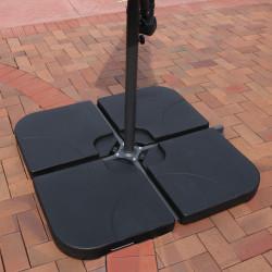 Sunnydaze Heavy-Duty Water/Sand Cantilever Umbrella Base Plates, Set of 4 Weights