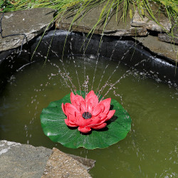 Sunnydaze Floating Lotus Flower Solar-Powered Water Fountain Kit, 48 GPH