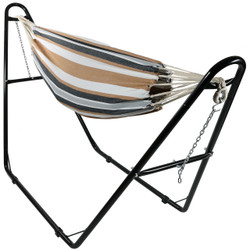 Sunnydaze Brazilian Extra Large 2-Person Jumbo Hammock with Universal Multi-Use Steel Stand, for Indoor or Outdoor Use