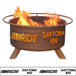 Daytona 500 NASCAR Racing Wood Burning Fire Pit