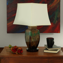 Sunnydaze Indoor/Outdoor Multi-Colored Ceramic Table Lamp, 23 Inch Tall