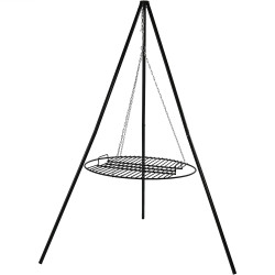 Sunnydaze Tripod Grilling Set with Cooking Grate, 24 Inch Diameter