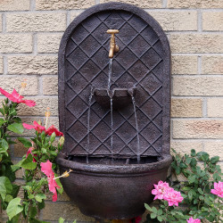 Sunnydaze Messina Solar Wall Fountain, 26 Inch Tall