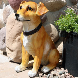 Sunnydaze Jack Russell Terrier Dog Statue, 16-Inch Tall
