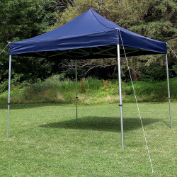 Sunnydaze Commercial Grade Heavy-Duty Aluminum Straight Leg Quick-Up Instant Canopy