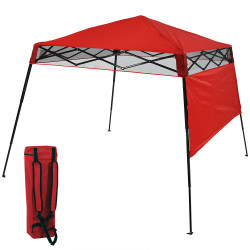 Sunnydaze Compact Quick-Up Slant Leg Instant Pop-Up Backpack Canopy Tent, 6 x 6 Foot Top, 7.5 x 7.5 Foot Bottom