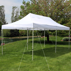 Sunnydaze Quick-Up Instant Pop-Up Canopy Party and Wedding Tent, 10 x 20 Foot, White
